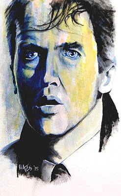 Painting - It's A Wonderful Life 1 - Jimmy Stewart by William Walts