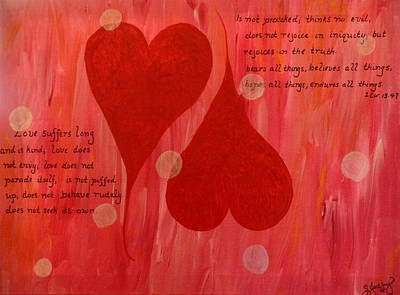 Abba Father Painting - Its All About Love by Sheila Yackley Prophetic Pieces