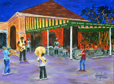Donuts Painting - It's All About The Beignets by Glenda Grubbs