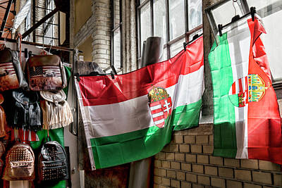 Budapest Photograph - Its All About The Flag by Sharon Popek
