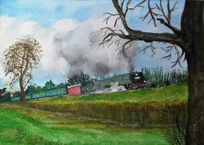 Painting - It's All Uphill To Scotland by Carole Robins