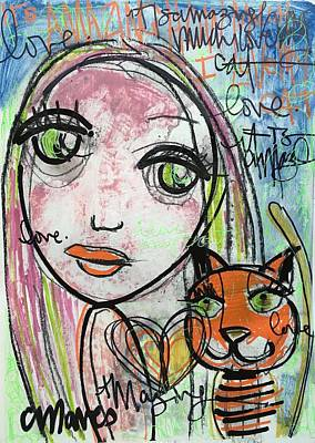 Painting - It's Amazing How Much I Love My Cat by Laurie Maves ART