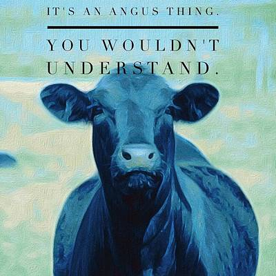 Painting - It's An Angus Thing by Michele Carter