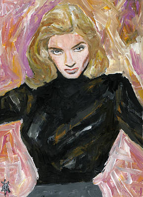 Lauren Bacall Painting - It's Bacall, Lauren Bacall by KM Paintings