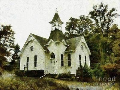 Photograph - It's Been Too Long - Old Country Church by Janine Riley