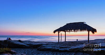 Photograph - It's Blue Hour At The Windansea Surf Shack by David Levin