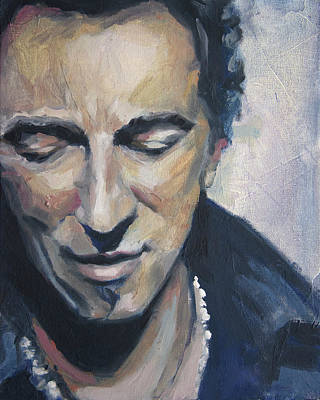 It's Boss Time II - Bruce Springsteen Portrait Original by Khairzul MG