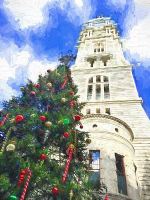 Photograph - It's Christmas At City Hall by Alice Gipson