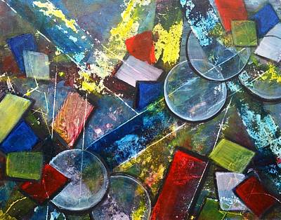 Painting - Its Complicated Abstract Geometric Painting by Manjiri Kanvinde