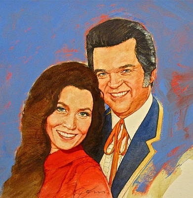 Loretta Lynn Painting - Its Country - 12 Loretta Lynn Conway Twitty by Cliff Spohn