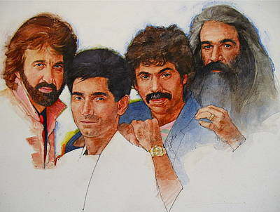 Art Print featuring the painting Its Country 4 - Oakridge Boys by Cliff Spohn