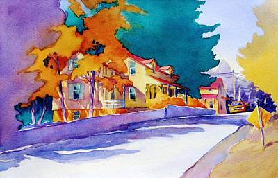 Suburban Painting - It's Downhill From Here by Virgil Carter
