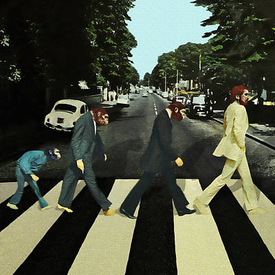 Abbey Road Digital Art - It's Evolution Baby by Marian Voicu