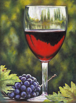 Winery Painting - It's Five O'clock Somewhere by Donna  Hillman Walsh
