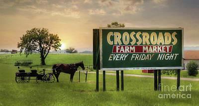 Farming Digital Art - It's Friday Night by Lori Deiter