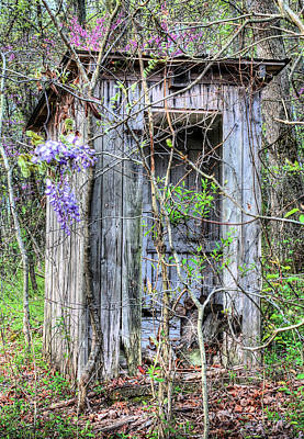 Antique Outhouse Photograph - It's Go Time by JC Findley
