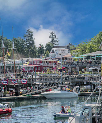Transportation Royalty-Free and Rights-Managed Images - Its Gonna Be a Bright Sunshiny Day Friday Harbor by Betsy Knapp