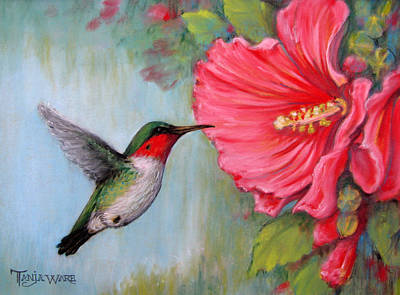 It's Hummer Time Art Print by Tanja Ware