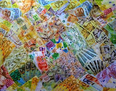 Finance Mixed Media - It's Just Money I by John  Nolan