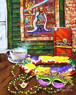 Mardi Gras Painting - It's Mardi Gras Time by Dianne Parks
