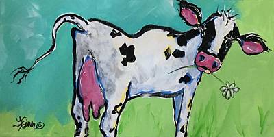 Painting - Its Milkin Time by Terri Einer