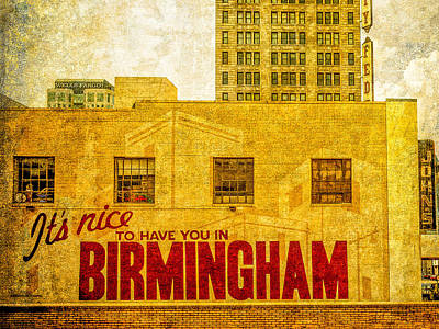 It's Nice To Have You In  To Birmingham Art Print by Phillip Burrow