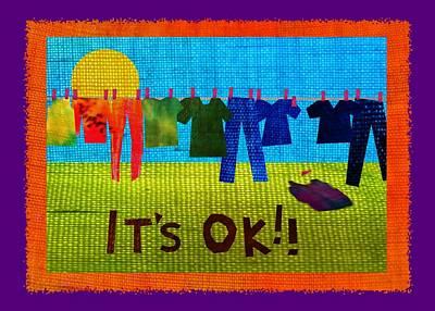 Grit Digital Art - Ok Transparent by Wendy Rickwalt