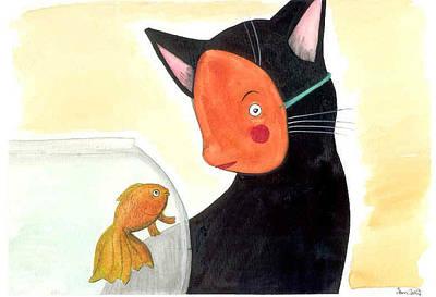Painting - It's Okay, I'm One Of You by JoLynn Potocki