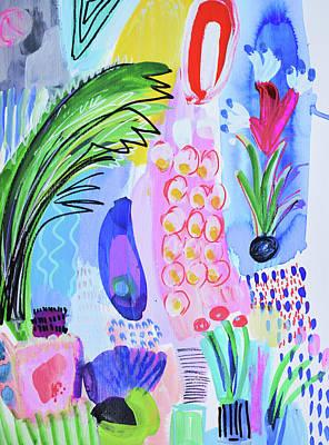 Painting - It's Raining Flowers by Amara Dacer