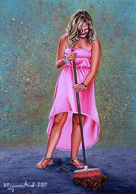 Painting - It's Raining Gold by Rezzan Erguvan-Onal