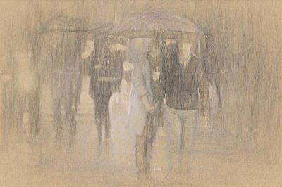Rain Drawing - It's Raining In Georgia by Angela A Stanton