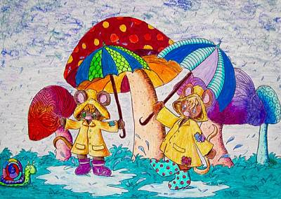 Rain Drawing - Its Raining Its Pouring by Megan Walsh