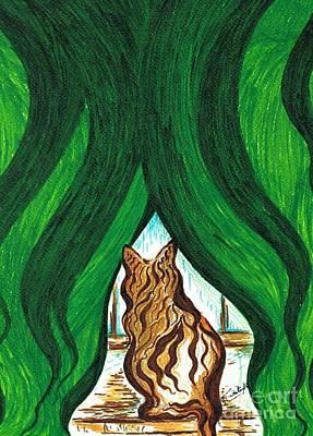 Dried Drawing - Its Raining  by Teresa White