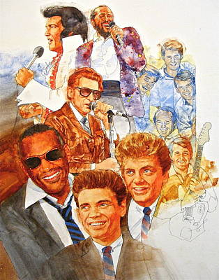 Art Print featuring the painting Its Rock And Roll 3 by Cliff Spohn