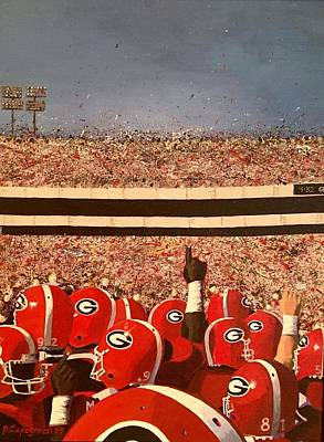 Georgia Bulldog Painting - It's Saturday In Athens by Beth Capogrossi
