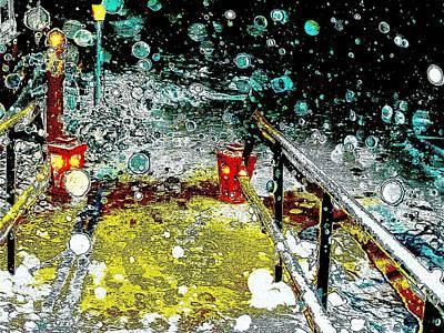 Digital Art - It's Snowing by Cliff Wilson