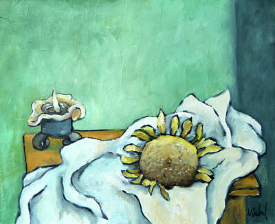 Painting - It's Still Life With Clean Sheet And Possibilities by Pic Michel