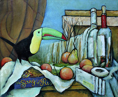 Painting - It's Still Life With Waterfall And Mail Forwarding by Pic Michel