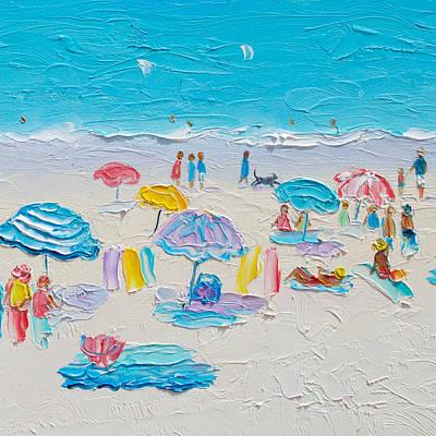 Beach Umbrellas Painting - Its Summertime by Jan Matson