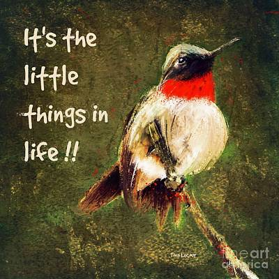 Digital Art - It's The Little Things by Tina LeCour