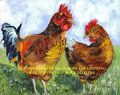 It's The Rooster Art Print by Carol Wisniewski