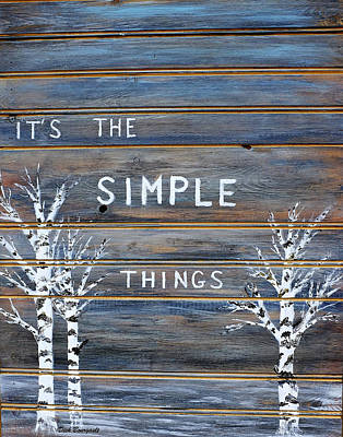 It's The Simple Things Art Print