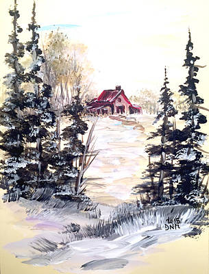 Painting - It's Winter - 2 by Dorothy Maier