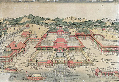 Drawing - Itsukushima Shrine, C1780.  by Granger