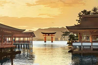 Itsukushima Shrine Miyajima Hiroshima Japan Art Print by Elaine Plesser