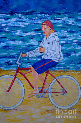 Painting - iTunes And Beach Cruising by Art Mantia