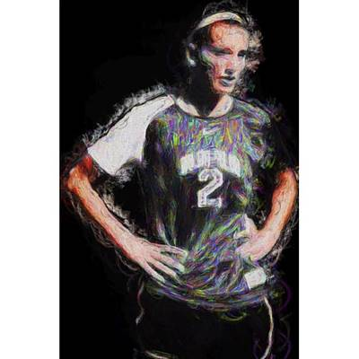 Celebrities Photograph - @iupui #soccer #futbol #painting by David Haskett
