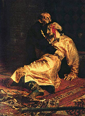 Digital Art - Ivan The Terrible And His Son Dt by Il'ya Repin
