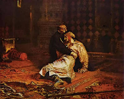 Digital Art - Ivan The Terrible And His Son by Il'ya Repin