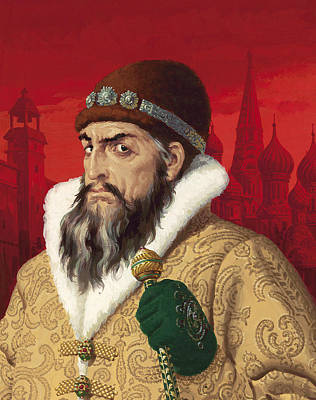 Moscow Painting - Ivan The Terrible by English School